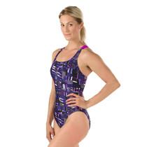 Speedo Women's Trippy Stripe Drop Back Swimsuit - 2017