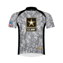 Primal Wear Men's US Army Camo Cycling Jersey