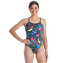 Amanzi Women's Wild Aster One Piece Swimsuit - Front