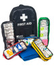 Mobile Sports First Aid Kit in Rucksack | Showing Pull-Out Internal Compartments | Physical Sports First Aid