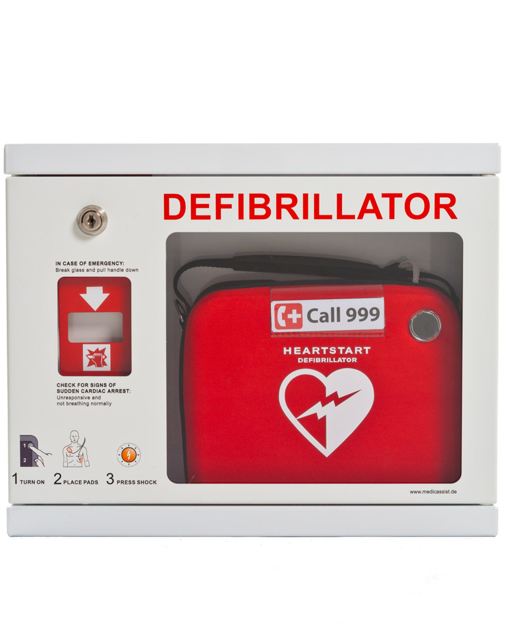 Attirant SafeBox Defibrillator Cabinet For Philips Heartstart AEDs | Physical Sports  First Aid