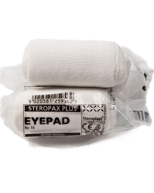 Eyepad Dressing with Bandage   Number 16 First Aid Dressing 7.5cm   Physical Sports First Aid