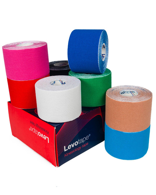 Levotape Kinesiology Tape | Full Colour Range in 6 Packs | Physical Sports First Aid