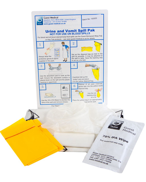 Urine and Vomit Spill Pack Contents | Physical Sports First Aid