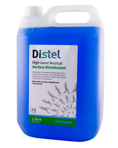 Distel Surface Disinfectant | 5L Concentrate, Eucalyptus | Physical Sports First Aid
