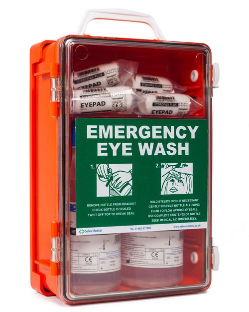 Orange Eyewash Cabinet   Physical Sports First Aid