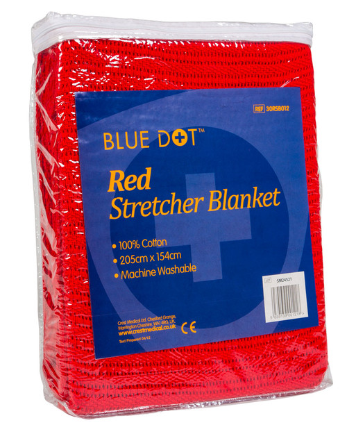 Red Stretcher Blanket | Pack Shot | Physical Sports First Aid