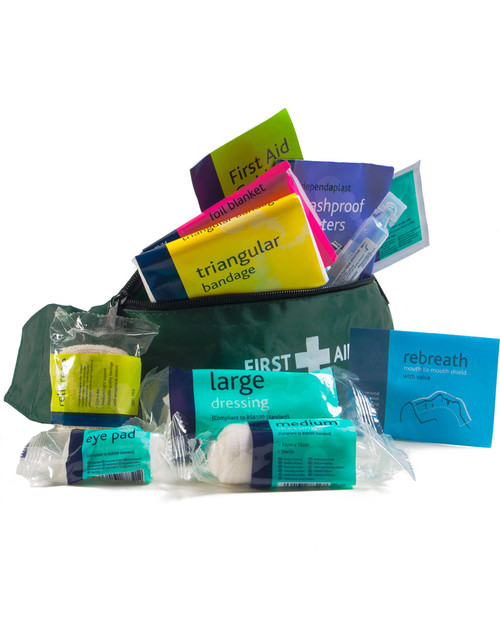 Playground First Aid Kit   Open, Showing Contents   Physical Sports First AId