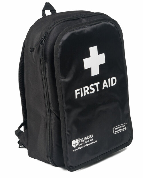 First Aid Rucksack | Black | Physical Sports First Aid