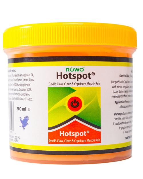 Rowo Hotspot Heat Rub | 200ml Tub | Physical Sports First Aid