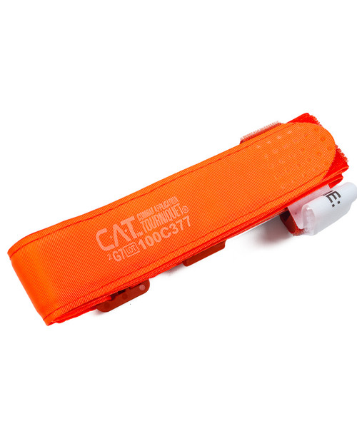 Combat Application Tourniquet, Orange | Flat Side | Physical Sports First Aid