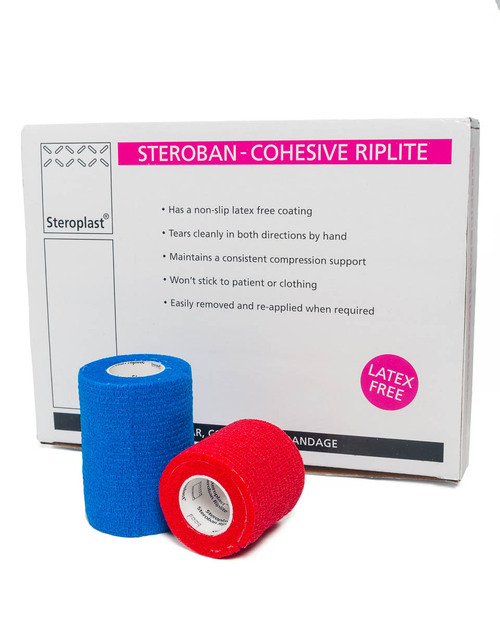 Steroban Cohesive Riplite | Box of 12 | Physical Sports First Aid