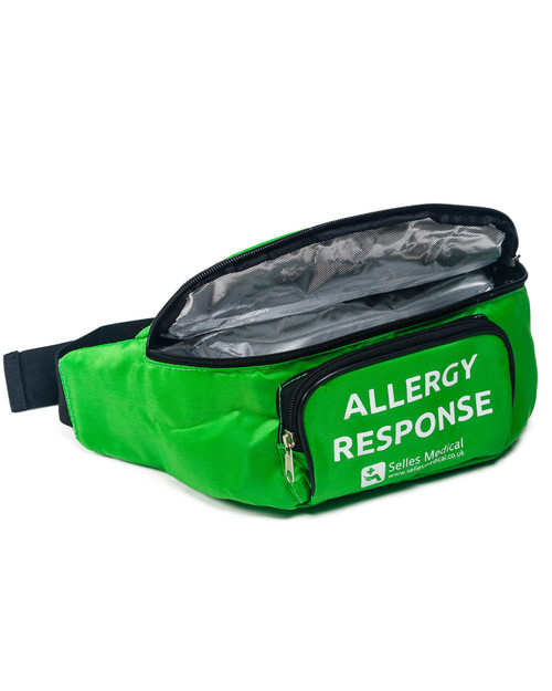 Allergy Response Bum Bag | Open Showing Insulated Lining | Physical Sports First Aid