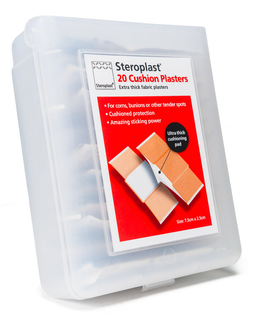 Steroplast Sponge Cushion Plasters | Box of 20 | Physical Sports First Aid