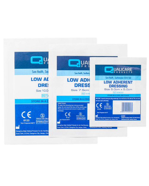 Qualicare Low Adherent Dressing | Pack Shot | Physical Sports First Aid