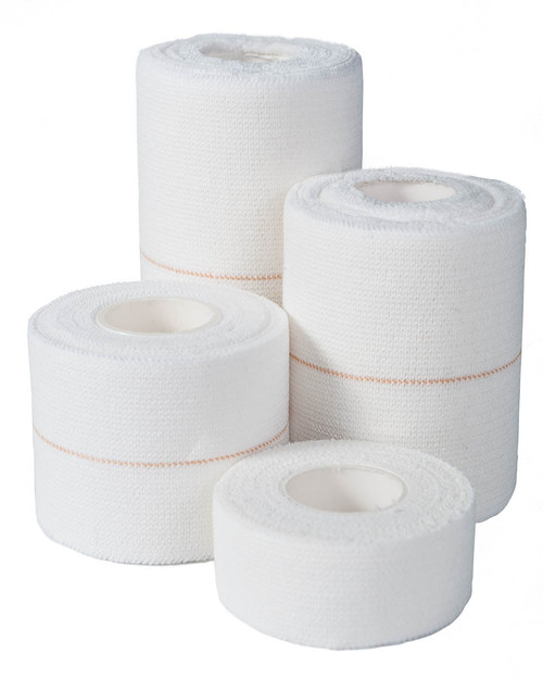 Qualicare Elastic Adhesive Bandage | Group Shot of Four Sizes | Physical Sports First Aid