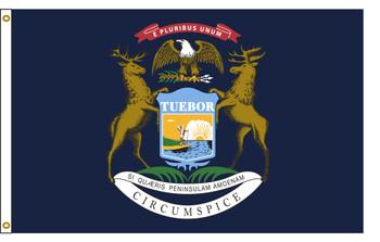 Michigan 3'x5' Nylon State Flag 3ftx5ft