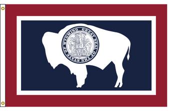 Wyoming 3'x5' Nylon State Flag 3ftx5ft