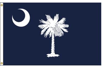 South Carolina 4'x6' Nylon State Flag 4ftx6ft