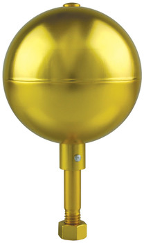 "10"" Inch Gold Aluminum Ball Flagpole Ornament"
