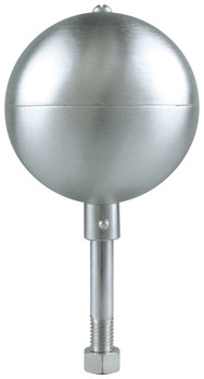 """10"""" Inch Stain Aluminum Ball Flagpole Ornament"""