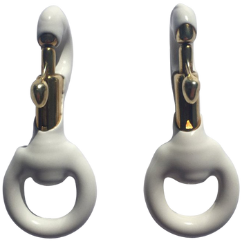 Pair of 3 Inch White Rubber Coated Brass Swivel Snap (2, White)