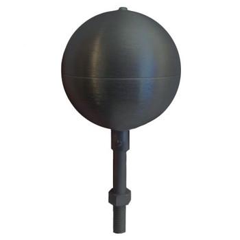 "10"" Inch Black Aluminum Ball Flagpole Ornament"