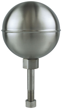 """10"""" Inch Stainless Steel Satin Finish Ball Flagpole Ornament"""