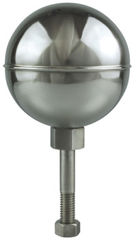 """10"""" Inch Stainless Steel Mirror Finish Ball Flagpole Ornament"""