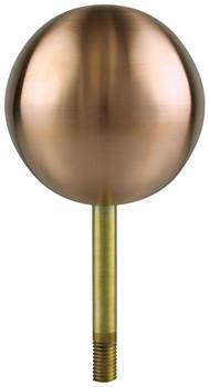 """10"""" Inch Copper Ball Flagpole Ornament"""