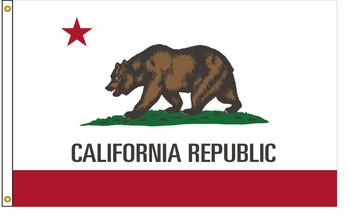 California 5'x8' Nylon State Flag 5ftx8ft