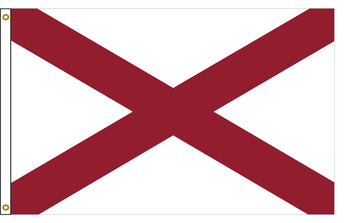 Alabama 5'x8' Nylon State Flag 5ftx8ft