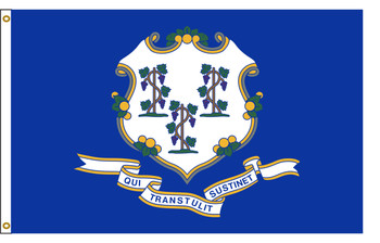 Connecticut 5'x8' Nylon State Flag 5ftx8ft