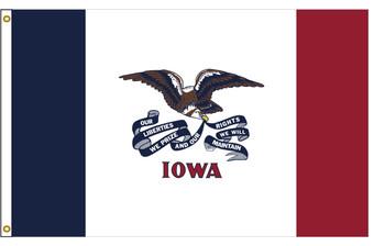Iowa 5'x8' Nylon State Flag 5ftx8ft