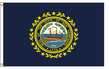 New Hampshire 5'x8' Nylon State Flag 5ftx8ft