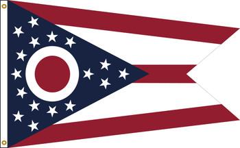 Ohio 5'x8' Nylon State Flag 5ftx8ft