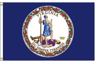 Virginia 5'x8' Nylon State Flag 5ftx8ft