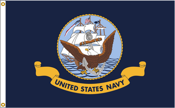 US Navy 8ftx12ft Nylon Flag