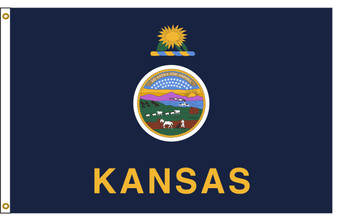 Kansas 6'x10' Nylon State Flag 6ftx10ft