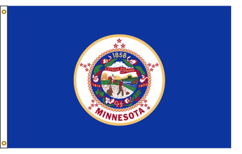 Minnesota 8'x12' Nylon State Flag 8ftx12ft