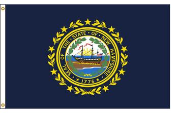 New Hampshire 8'x12' Nylon State Flag 8ftx12ft