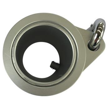 "Aluminum Metal 1.25"" Silver Rotating Flag Mounting Rings 1-1/4"""