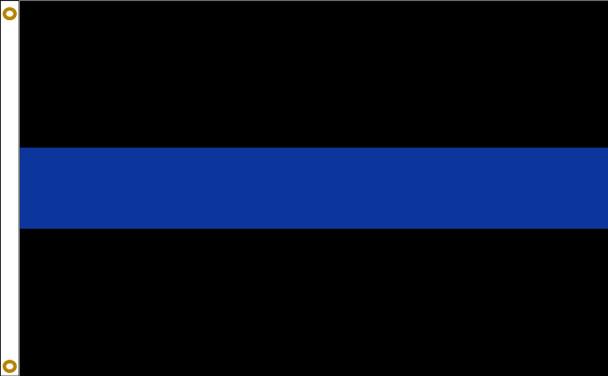 Thin Blue Line Sewn Stripes 3ftx5ft Flag