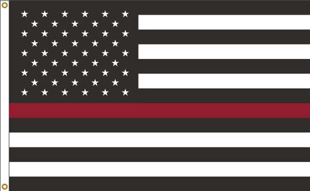 Thin Red Line US American 2ftx3ft Nylon Flag