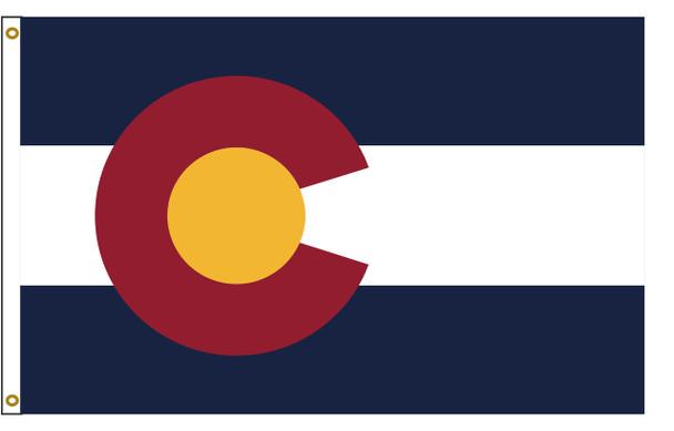 Colorado 3'x5' Nylon State Flag 3ftx5ft