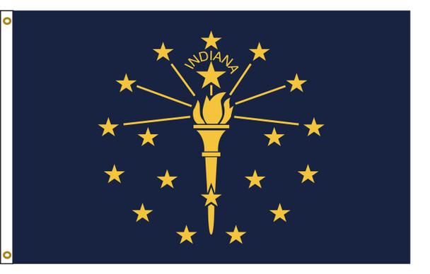 Indiana 3'x5' Nylon State Flag 3ftx5ft