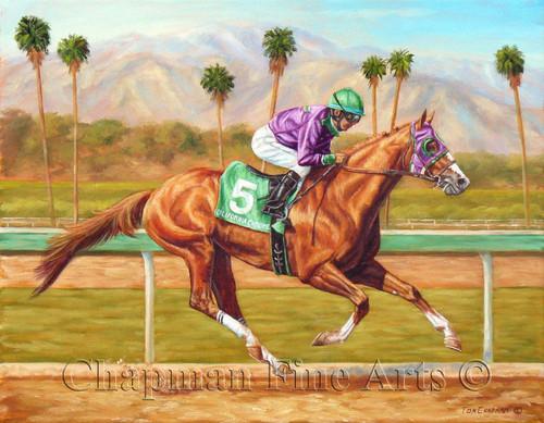 Shop Now For American Pharoah Portrait Giclee Canvas Prints