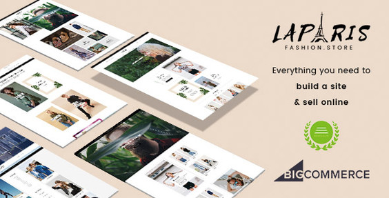 LaParis - Simple Creative BigCommerce Theme Preview