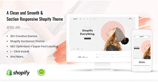 APRIL-01 - Simple Shopify theme for Fashion Store Online