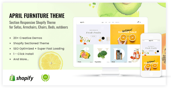 Shopify cool theme for organic food store online - preview